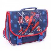 Schooltasje 38 CM blauw Spiderman