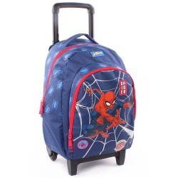 Sac à roulettes 45 CM Spiderman Power Haut de gamme Trolley - Cartable