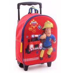 Rolling Backpack Maternal Sam Fireman Fire 3D 31 CM Trolley