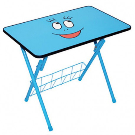 Mesa de actividades infantil azul Barbibul