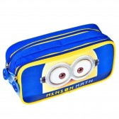 Trousse rectangle Minions Pixels Bleue - 2 cpt