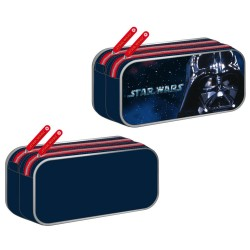 Trousse rectangle Star Wars Black Vador Marine 22 CM - 2 cpt