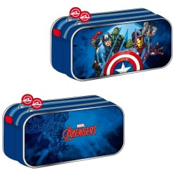Trousse rectangle Avengers Team 22 CM - 2 cpt