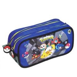 Trousse rectangle Pokemon Alola Bleue Haut de gamme