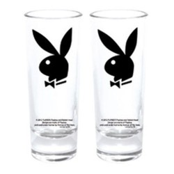 Set de 2 copas mini conejito Playboy negro