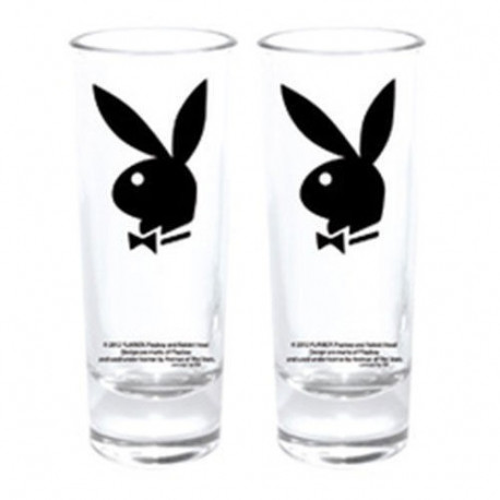 Set de 2 copas mini conejito Playboy negro