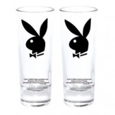 Set di 2 bicchieri mini coniglietto Playboy nero