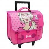 Cartable à roulettes Barbie Rose 38 CM Trolley bleu Haut de gamme - Cartable