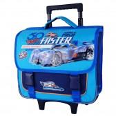 Cartable à roulettes Hot Wheels bleu 38 CM Trolley - Cartable