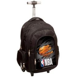 Cartable à roulettes NBA Basket 45 CM Black Legend Haut de gamme