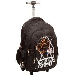 Sac à dos à roulettes NBA Basket 45 CM Black Winner Haut de gamme