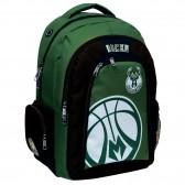 Sac à dos NBA Bucks vert 45 CM Haut de Gamme - Milwaukee