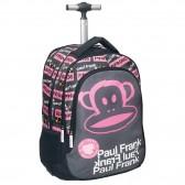 Sac à roulettes Paul Frank Iconic rose 48 CM Haut de gamme - cartable