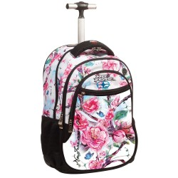 Rolling Backpack No Fear Butter Fly Almond 48 CM