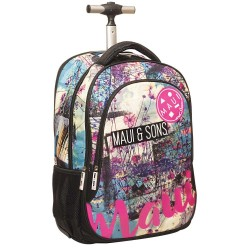 Rolling Backpack Maui & sounds Floral Beach Surf 48 CM