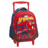 Sac à roulettes trolley maternelle Spiderman Marvel 31 CM - Cartable