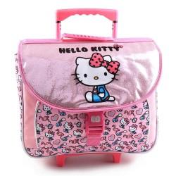 Hello Kitty Glitter 41 CM premium wielen rugzak
