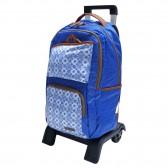 Sac à dos à roulettes Marshmallow Ethnic Bleu 47 CM trolley Haut de Gamme - Cartable