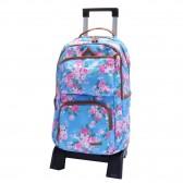 Sac à dos à roulettes Marshmallow Flower bleu 47 CM trolley Haut de Gamme - Cartable