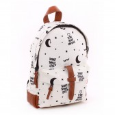 Backpack black and white Numbers 31 CM k premium