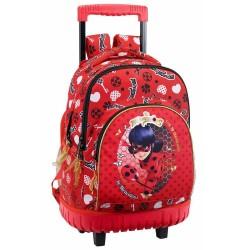 Sac à dos à roulettes Ladybug Miraculous 45 CM trolley Haut de Gamme - Cartable