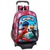Rolling bag Ladybug and Evolution 43 CM high-end - school trolley tas zwarte kat