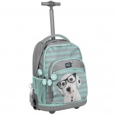 Rolling Backpack horse Flower 44 CM Premium - Trolley