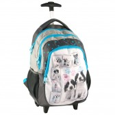 Backpack skateboard kitten green 45 CM Studio Pets trolley - Binder