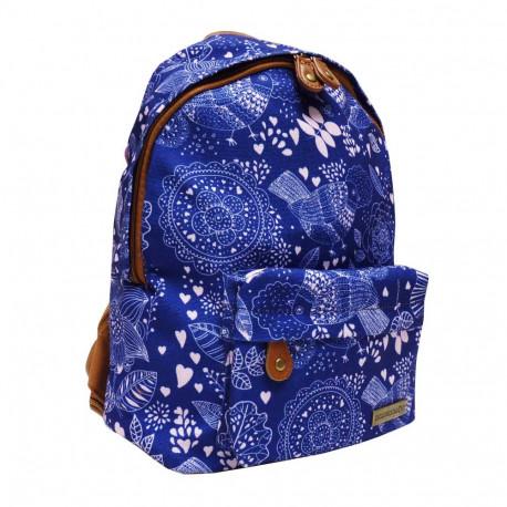 Backpack black and white heart Black 31 CM k premium