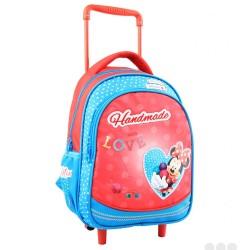 Sac à dos à roulettes Minnie Mouse Love maternelle 30 CM - Cartable