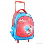 Sac a roulettes Minnie Mouse Love maternelle 30 CM