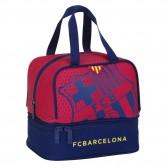 Sac goûter FC Barcelone Casual 20 CM bleu et grenat - sac déjeuner