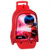 Sac à dos à roulettes Ladybug Miraculous Secret 43 CM trolley Haut de Gamme - Cartable