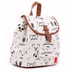 Backpack black and white animals 28 CM k premium