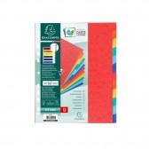 Intercalaires carte lustrée 225g 12 positions A4 maxi