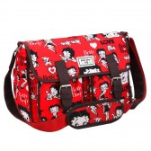 Sac bandoulière Betty Boop rouge 34 CM - Collection Love