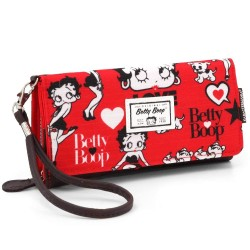 Portefeuille long Betty Boop Rouge Love 20 CM