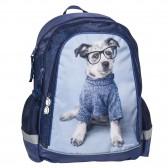 45 CM - 2 Cpt hond rugzak blauw