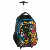 Backpack skateboard Paso gray to white 49 CM - 2 Cpt points