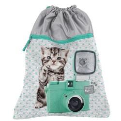 Gato de la bolsa piscina estudio mascotas 45 CM
