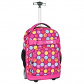 Backpack on wheels Pink Bubble 51 CM