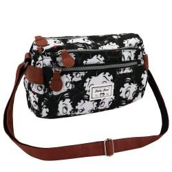 Tasche geschlungen Betty Boop schwarz 24 cm