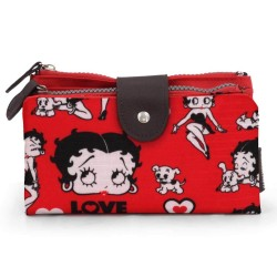 Portefeuille Betty Boop Rouge Love 18 CM