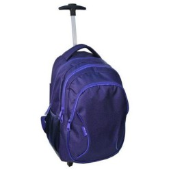 Sac à dos à roulettes trolley Violet 46 CM - 2 Cpt