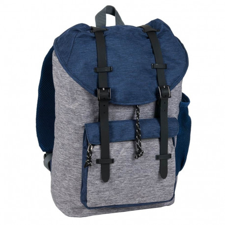 Paso black and grey backpack with straps 39 CM