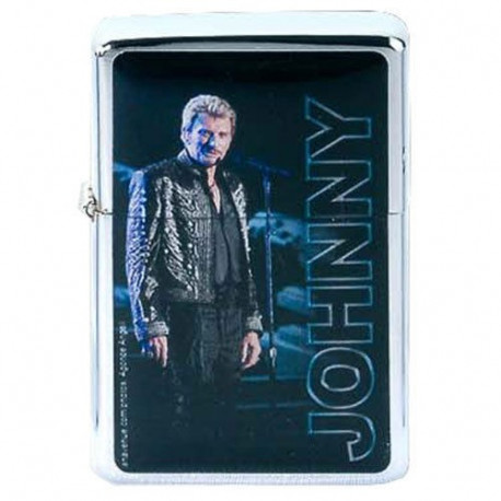 Briquet essence Johnny Hallyday bleu