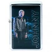 Briquet essence Johnny Hallyday bleu
