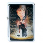 Briquet essence Johnny Hallyday jaune