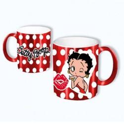 Betty Boop rode spiegel mok