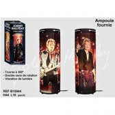 Lamp rotating Johnny Hallyday Costume black